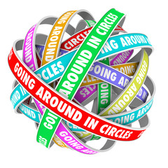 Going Around in Circles Words on Circle Ribbons