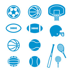 Vector icons Sports Equipment and Balls