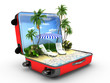 Open baggage, vacation concept