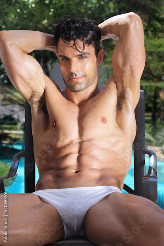 Sexy man outdoors