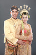 traditional java wedding couple