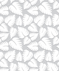 Seamless leaves background design