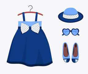 Summer dress and accessories for little girl