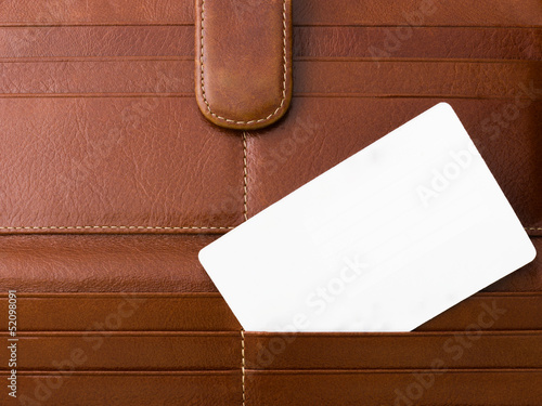 White Card on Brown Bag