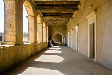 Gallery of monastery Arkadi on Crete, Greece