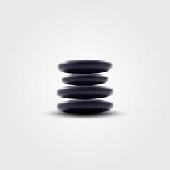 Vector spa stones