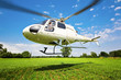 Leinwandbild Motiv Hubschrauber Start
