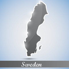 shiny icon in form of Sweden