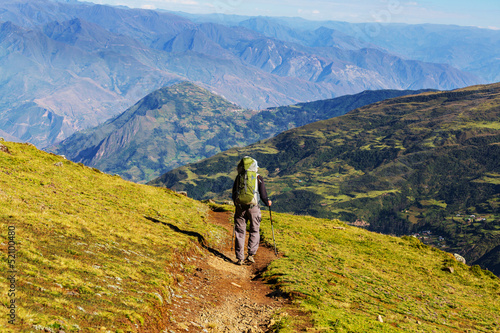 Hike in Bolivian mountains