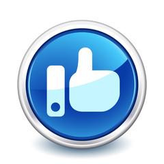 button blue like