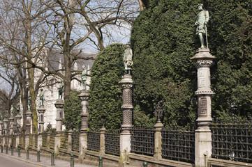 Petite Sablon square in Brussels, Belgium.