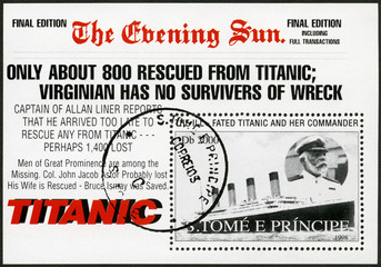 ST.THOMAS AND PRINCE ISLANDS-1998: Edward John Smith and Titanic