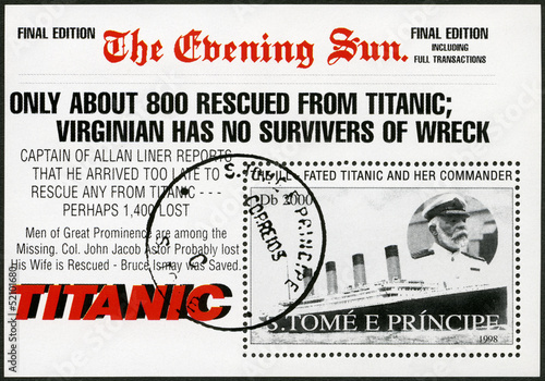 ST.THOMAS AND PRINCE ISLANDS-1998: Edward John Smith and Titanic