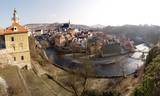 Panorama of Chesky Krumlov, Chezh Republic.