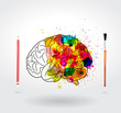 Creativity brain vector illustration template design.