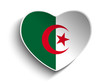Algeria Flag Heart Paper Sticker