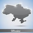 shiny icon in form of Ukraine