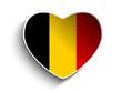 Belgium Flag Heart Paper Sticker