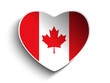 Canada Flag Heart Paper Sticker