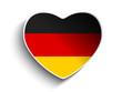 Germany Flag Heart Paper Sticker