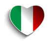 Italy Flag Heart Paper Sticker