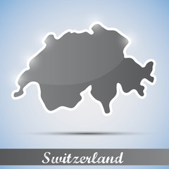 shiny icon in form of Switzerland