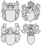 set of aristocratic emblems No8