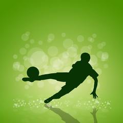 Vector soccer poster