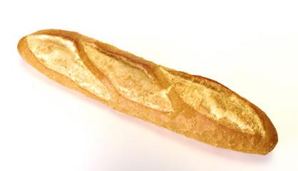 long loaf, Baguette on white background