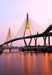Bhumibol Bridge under twilight, Bangkok, Thailand