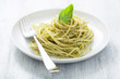 spaghetti with pesto sauce
