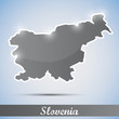 shiny icon in form of Slovenia