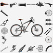 Bicycle with parts