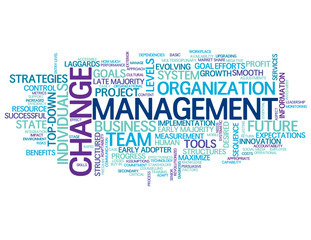 """CHANGE MANAGEMENT"" Tag Cloud (smart lean process improvement)"