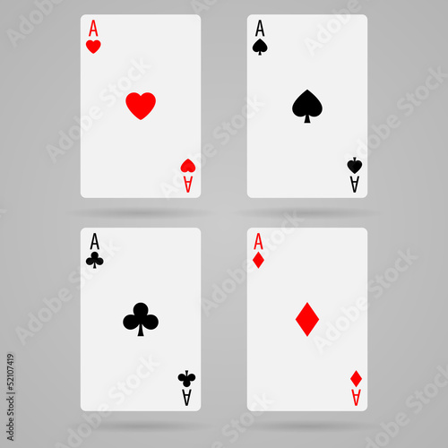 Vector aces cards