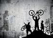 Leinwandbild Motiv Bike tour background