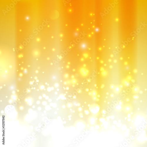 abstract orange background with sparkles
