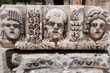 Stone mask in Myra (Turkey )
