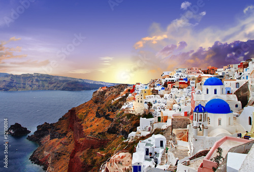 amazing sunset over Santorini