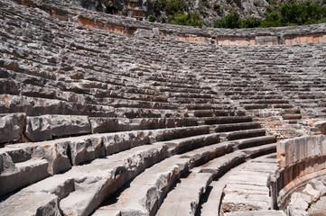 Ancient amphitheater in Myra, Turkey