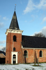 Old church from the 13th century in Wede.The Netherlands