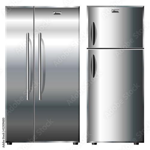 Metalic refrigerators