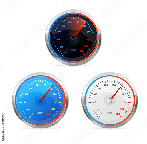 Speedometers, vector set