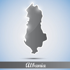 shiny icon in form of Albania