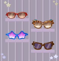 glasses vector set очки