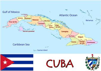 Cuba America emblem map symbol administrative divisions