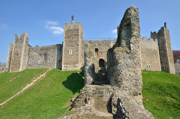 Framlingham castle with large wall