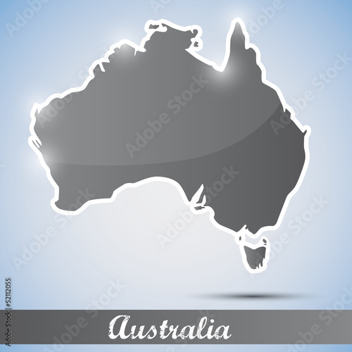 shiny icon in form of Australia