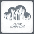 Cloud computing concept. Vector.