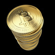 Golden Bitcoin cryptography digital currency